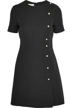 Gucci Black wool and silk-blend Concealed hook and zip fastening at back 51% wool, 49% silk; lining: 71% acetate, 29% silk Dry clean Made in Italy