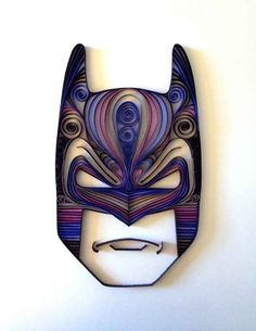 Batman | Wonderfully Geeky Quilled Paper Sculptures