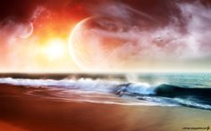 Fantasy World Distant Planets Images