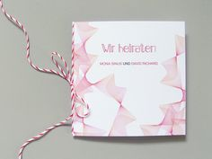"""Schöner Papierkram: Kreative Hochzeitseinladungen online bestellen (Teil 2) Karte und Foto von """"In Liebe"""": http://inliebe.dawanda.com"""