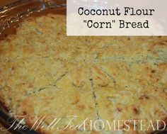 """Coconut flour """"cornbread"""" -- I typically HATE fake Paleo """"breads.""""  But I really wanted a non-corn recipe to use with this tonight:  http://www.myrecipes.com/recipe/pulled-pork-griddle-cakes-50400000128252/  Just made up the salsa and it is DELISH!  :)"""