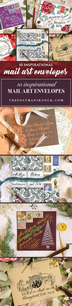 The best way to improve your calligraphy is through creating projects like mail art. Put your skills to the test with this friendly collection of envelope tutorials!