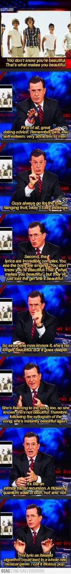 Thankyou Stephen Colbert. I have been struggling with this for sooo long!