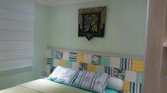 Cabeceira patchwork DIY