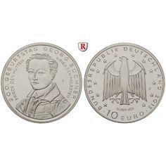 Bundesrepublik Deutschland, 10 Euro 2013, Büchner, F, PP: 10 Euro 2013 F. Büchner. Polierte Platte 28,00€ #coins
