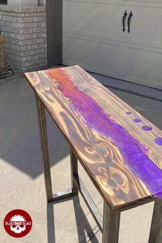 Diy Resin Table Tops, Resin And Wood Diy, Diy Resin Art, Diy Resin River Table, Woodworking Projects Diy, Diy Wood Projects, Wood Crafts, Epoxy Wood Table, Epoxy Table Top