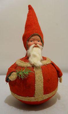 Santa - Antique Roly Poly Santa Claus, c1920s