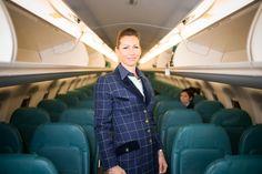 Francesca wearing our very first uniform (winter edition) #airdolomiti25 Photo by Aleksandr Dal Cero