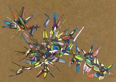 2018-034, par Dominique Vial.  #dessin #art #abstrait #faitMain #2018 #drawing #dessin #colors #couleurs #molotow #marker #marqueur #abstract #artabstrait #abstractart #kraft #acrylic #acrylique