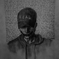 This is not my art, it is so amazing though! Nf Quotes, Music Quotes, Music Songs, My Music, Nf Rapper, Best Rapper, Nf Lyrics, Nf Real Music, Fan Art