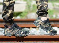 Construction Men's Outdoor Plus Size Steel Toe Cap Work Boots Shoes Me Mens Shoes Boots, Men's Shoes, Safety Shoes For Men, Camouflage, Men Street, Steel Toe, Plein Air, Leather Men, Leather Jacket