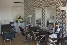 My 2 hair styling work stations and basin, where the creativity flows... Garage conversion, home salon, Bridal Perfection Studio Derrimut,