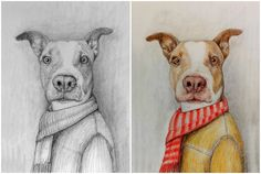 I don't know where to start-which dog goes first?Check this out- windness: draw a postcard with your pet in my style for $5, on fiverr.com