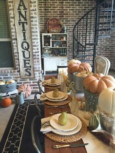 Fall Farmhouse Tablescape - House of Hargrove