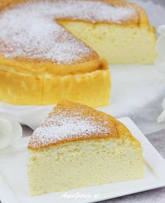 Sernik japoński | AniaGotuje.pl Vanilla Cake, Cheesecake, Cooking Recipes, Baking, Food, Homestead, Tiny House, Guys, Gastronomia
