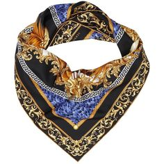 Neck Scarf Neck Scarf Women (€238) ❤ liked on Polyvore featuring accessories, scarves, blue, blue shawl, versace, versace scarves and blue scarves