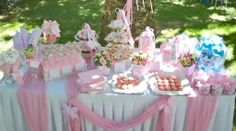 #stolismos vaptisis candy bar sta roz! Christening Themes, Name Day, Baptism Party, Father Daughter Dance, Baby Feeding, Baby Names, Tablescapes, Cool Kids, Diy And Crafts