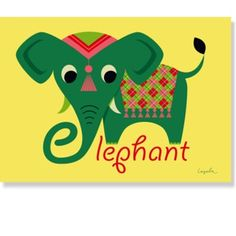 Ingela P. Arrhenius plakat - Elefant ~ Ingela P. Arrhenius