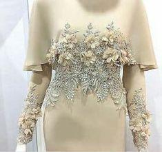 baju nikah terkini 2017 Oh the time spent on detailed hand work. Abaya Fashion, Muslim Fashion, Modest Fashion, Fashion Dresses, Muslim Wedding Dresses, Muslim Dress, Abaya Mode, Mode Hijab, Elegant Dresses