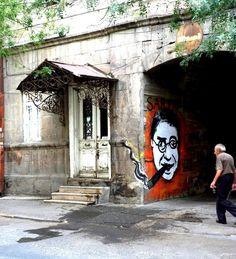 Yerevan, Jean Paul Sartre graffiti