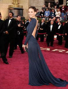 Hilary Swank | in Guy Laroche | Oscars 2005
