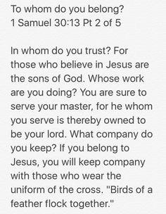 To whom do you belong?  1 Samuel 30:13 Pt 2 of 5