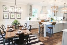 19 Trendy kitchen remodel with island open concept fixer upper Fixer Upper Kitchen, New Kitchen, Kitchen Decor, Kitchen Dining Combo, Kitchen Layout, Fixer Upper Living Room, Dining Living Room Combo, Vintage Kitchen, Kitchen Ideas