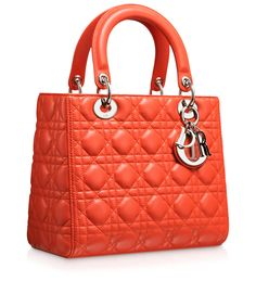 LADY DIOR - Orange Vif leather Lady Dior bag!