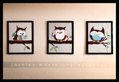 ADORABLE Owl Appliqué Wall Art!! Very detailed How To Included!