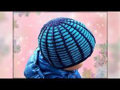 Шапка крючком для начинающих вязальщиц.Hat hook for beginning knitters. - YouTube