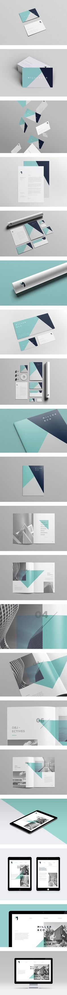 Miller & Co identity by James Fitzgerald (branding and editorial design) Web Design, Id Card Design, Logo Design, Brand Identity Design, Graphic Design Typography, Layout Design, Branding Design, Letterhead Design, Brochure Design