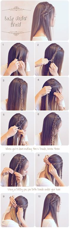 Easy Braided Hairstyles for Summer #hair #hairstyles #frisuren