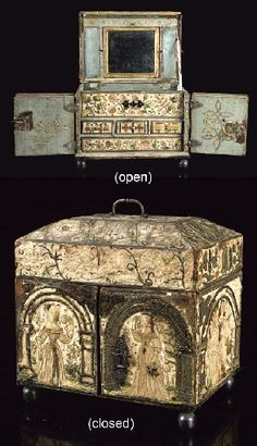 17th Century embroidered Casket