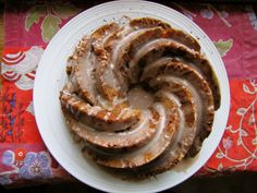 Spiced Ginger Pear Cake with Cinnamon Frosting