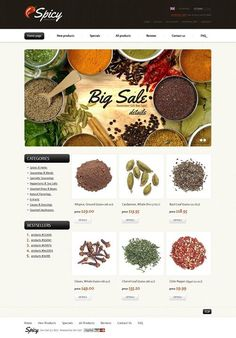 What about this? Yes or No?   Spice Shop ZenCart Template CLICK HERE! live demo  http://cattemplate.com/template/?go=2iPHlW9