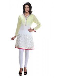 Glamorous White & Pale Yellow Ready Made Kurti  Rs.3,095 24% OFF