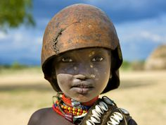 Erbore tribe kid, Ethiopia von Eric Lafforgue