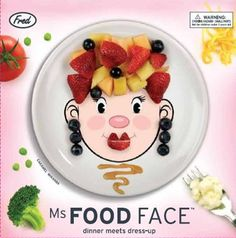Ms. Food Face Plate by FRED