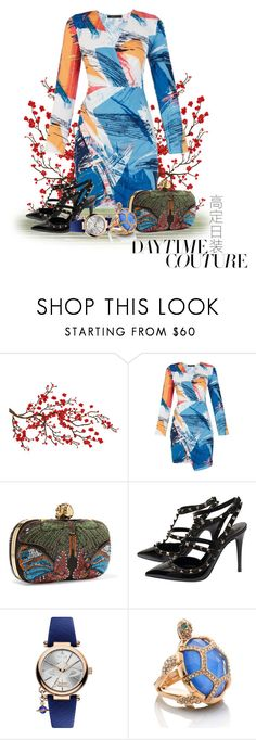 """""""Dress geometric"""" by dedication ❤ liked on Polyvore featuring Brewster Home Fashions, BCBGMAXAZRIA, Alexander McQueen, Valentino, Vivienne Westwood and Kate Spade"""
