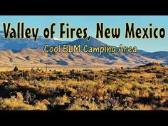 Camping at Valley of Fires in New Mexico