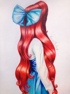 Drawing of Ariel wearing her town outfit