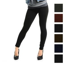 6 Pairs: Black & other Colors Opaque Soft & Warm Fleece-Lined Leggings @ NoMoreRack $30