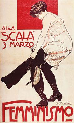 Vintage Italian Posters ~ #illustrator #Italian #vintage #posters ~ Poster Italian Femminismo