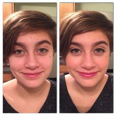 Before and after teen makeup tutorial (tinted moisturizer used)