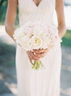 #peony, #bouquet  Photography: Landon Jacob Productions - landonjacob.com  Read More: http://www.stylemepretty.com/2013/08/13/haig-point-wedding-from-landon-jacob/
