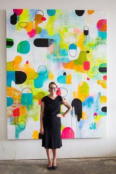 Artist + illustrator Lisa Congdon // inspiration art painting makermonday