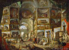 Giovanni Paolo Pannini or Panini - Galerie der Ansichten des antiken Rom