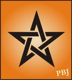 Pentagram - Celtic symbol for Halloween witch wicca signs