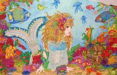 Quilt de Joyce Hugues. Très coloré, à mon avis l'effet est réussi car il reflète une atmosphère magique!