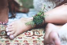 Floral Ankle Cuffs - Boho brides, this is floral embellishment heaven! I don't think I've seen anything more perfect and wonderfully earthy! #cedarwoodweddings Cedarwood Weddings Style Inspiration :: Native Bohemian | Cedarwood Weddings